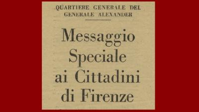"Firenze, estate 1944: testimonianze di una ""guerra di notizie"""